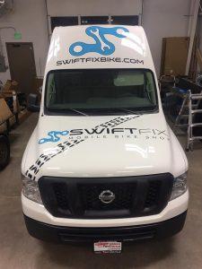 Vehicle Graphics custom transport van vehicle graphics wrap 225x300